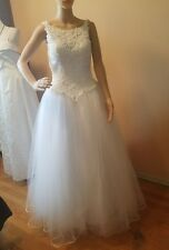 Emme Bridal wedding dress size 2 embroidery beads sequence crinilin skirt sleeve