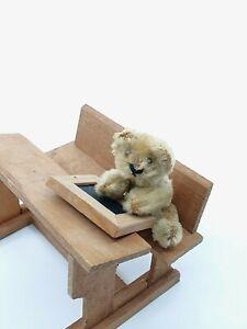 cute rare Schuco prewar Mascot Teddy Bear blond 6,5 cm mohair vintage