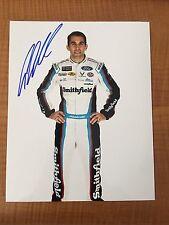 Aric Almirola Signed 8x10 Photo NASCAR COA Flip