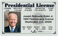 Joe Biden MAGNET Presidential License Novelty ID 46 President DC Kamala Harris
