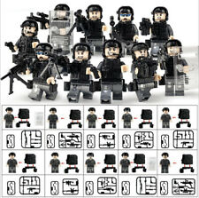 10 Pcs SWAT Special Unit Police Officers Mini Figures with Weapon Pack fits Lego