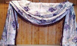 """Croscill Extra Long Window Scarf ~ Purple Multi ~ 45"""" W x 104"""" L **NEW**"""