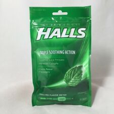Halls Spearmint Cough Drops Throat Lozenges 30 Count (6 Pack) New and Sealed