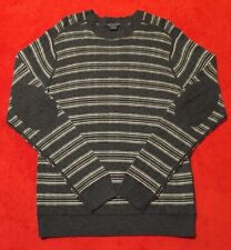 A/X Armani Exchange Gray Striped Crewneck Elbow Patch  Men's Sweater Sz M