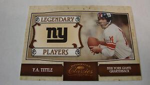 2007 Donruss Classic Legendary Players # LP-22 Y.A. Tittle # 636 of # 1000 box 6