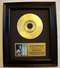 Elvis Presley Baby Let's Play Sun 217 Gold 45 Record +Mini Sleeve Non Riaa Award