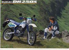 1991 SUZUKI DR250S 2 page Motorcycle Brochure NCS
