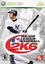 Major League Baseball 2K6 (Microsoft Xbox 360, 2006) GOOD
