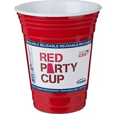 Trudeau 16oz Double Wall Insulated Red Party Cup