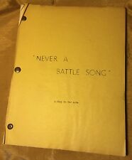 ELSA LANCHESTER Owned NEVER A BATTLE SONG Script for CHARLES LAUGHTON to Direct?