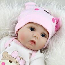 "22""Lifelike Reborn Baby Dolls Newborn Silicone Vinyl Handmade Gifts Kids Toys"