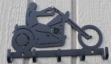 Motorcycle Key Holder Metal Wall Art Home Decor