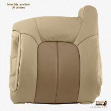 2002 GMC Yukon Denali Driver Side Lean Back 2-Tone Tan Leather Replacement Cover