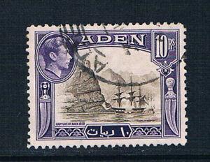Aden 1939 KGVI pictorials 10r value o/FU SG 27