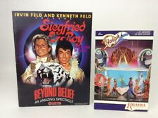 Siegfried & Roy Beyond Belief Program 80s show Frontier Casino -Riviera Postcard
