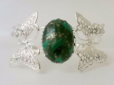 Malachit mit Pyrit Einschlüssen Armreif Armband Schmetterling Butterfly Grün