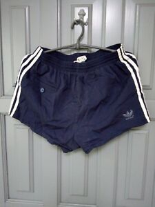 RARE Adidas Vintage Football Shorts retro 80s shiny running