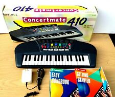 Optimus Concertmate 410 Portable Electronic Keyboard 42-4031 & Adapter &  Songbo
