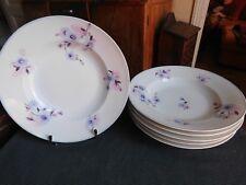 Bernardaud & Cie 5 assiettes creuses motif floral 1900/1927 porcelaine Limoges