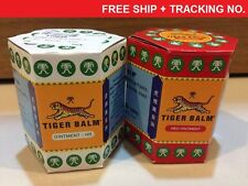 2x30g RED&WHITE TIGER BALM OINTMENT-MASSAGE-PAIN RELIEF / FREE SHIP