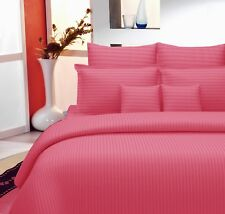 Indian Royal Plain 100% Cotton King Size Bed Sheet With Two Pillow Covers Set