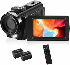 1080P FHD Video Digital Vlogging Camera Camcorder Recorder w Remote Control NEW