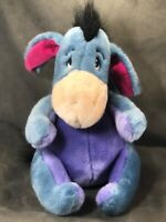 "Disney Store Authentic Blue Eeyore Plush with Detachable Tail~12"" Soft CLEAN!"