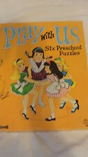 "VINTAGE SAALFIELD FRAME PUZZLES - ""PLAY WITH US""  6 PUZZLES"