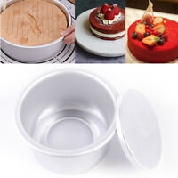 Aluminum Alloy Round Mini Cake Pan Removable Bottom Pudding Mold FBDU