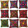 Indian Pom-Poms Suzani Ethnic Embroidery Cushion Cover Covers Embroidered 40 cms
