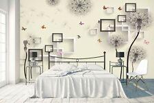 3D Grey Dandelion 297RAIG Wallpaper Mural Self-adhesive Removable Sticker Amy