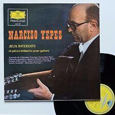 """LP Narciso Yepes  """"Jeux interdits et pièces brillantes pour guitare"""""""
