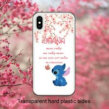 Disney Lilo and Stitch Quote Ohana Case Cover for iPhone Samsung Huawei Google