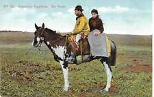 Buenos Aires Argentina People on Horseback En Ancas Antique Postcard J49120