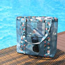 Women Large Mesh Beach Tote Bag Reusable Grocery Shopping Handbag Shoulder Bag