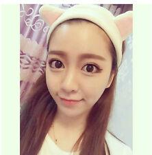 Edute House Cat ear SPA lace Wash Face Make Up Remover Towel Headband YOGA LACE