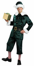 Adult Jolly Green Helper Elf Costume Christmas Toyshop Worker Adult Size XL