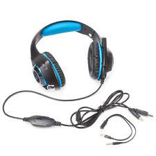 Gaming Headset für PS4 Xbox One PC  Bass Kopfhörer mit Mikrofon LED Licht