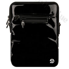 Black Leather Bag Pouch Case Cover  w/ Strap for Samsung Galaxy Tab A / S2 9.7''