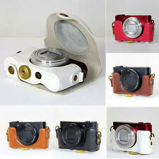 Leather Hard Camera Case Bag Grip Strap For Sony DSC-HX90V HX90 WX500 / 5Colors
