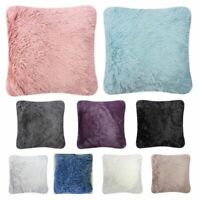 Beautiful Hug & Sung Fluffy Bed Soft Plain Square Cushion Covers Filled Unfilled