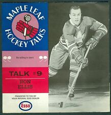 Ron Ellis 1966-67 Esso '66 Toronto Maple Leaf Hockey Talks #9 Record EX