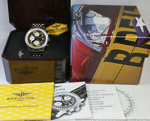 Breitling Navitimer II A13022 Chronograph Mens Watch Box Papers