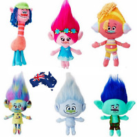 Hot Movie Trolls Large Poppy Hug 'N Plush Doll Kids Xmas Gifts Toys 24cm, 30cm
