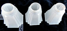 Vintage Deco Glass Lamp shades frosted/etched THREE!!