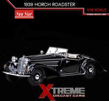SUNSTAR SS-2401 1:18 1939 HORCH ROADSTER BLACK DIECAST MODEL CAR