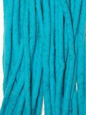 Turquoise dreadlocks - 16 Handmade felted merino wool double ended dreads