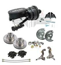 1974-1972 Chevelle A Body Wilwood Black Out Booster Kit & Disc Brake Kit