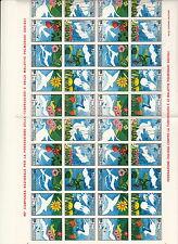 FOGLIO  IPZS 45° CAMPAGNA TUBERCOLOSI 1982 N 40 FRANCOBOLLI