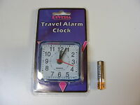 SMALL LITTLE QUARTZ TRAVEL ALARM CLOCK - BATTERY OPERATED AA BATTERY INCLUDED
